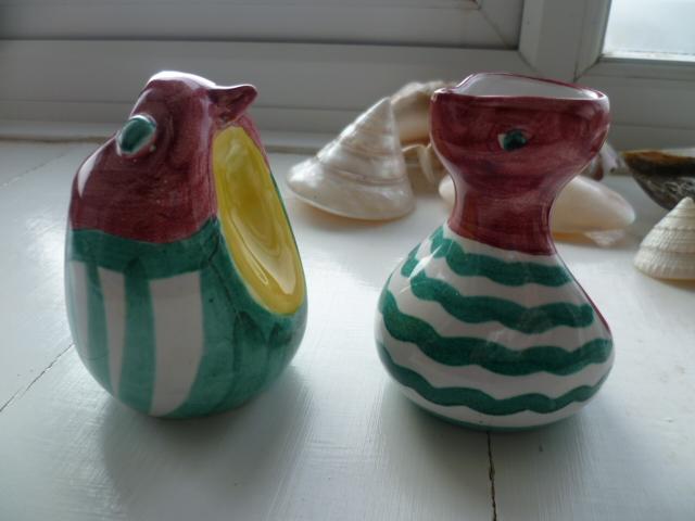 Little Italian Bird creamer and sugar bowl P1300013