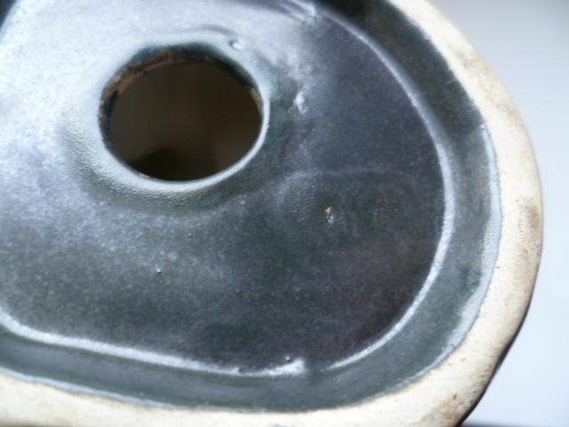 16 cm Matte glazed fox - Langley Pottery perhaps P1300617