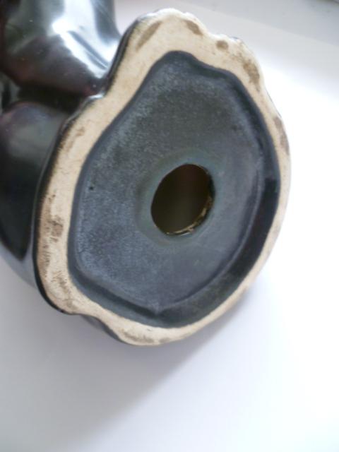 16 cm Matte glazed fox - Langley Pottery perhaps P1300618