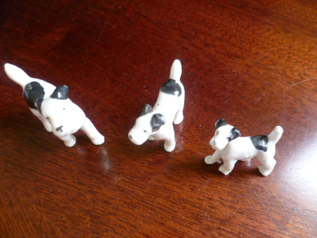 3 Miniature Scottish Terrier - Germany China - Figures P1310811