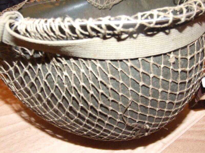 Filet sur casque US M1. Dscf7915