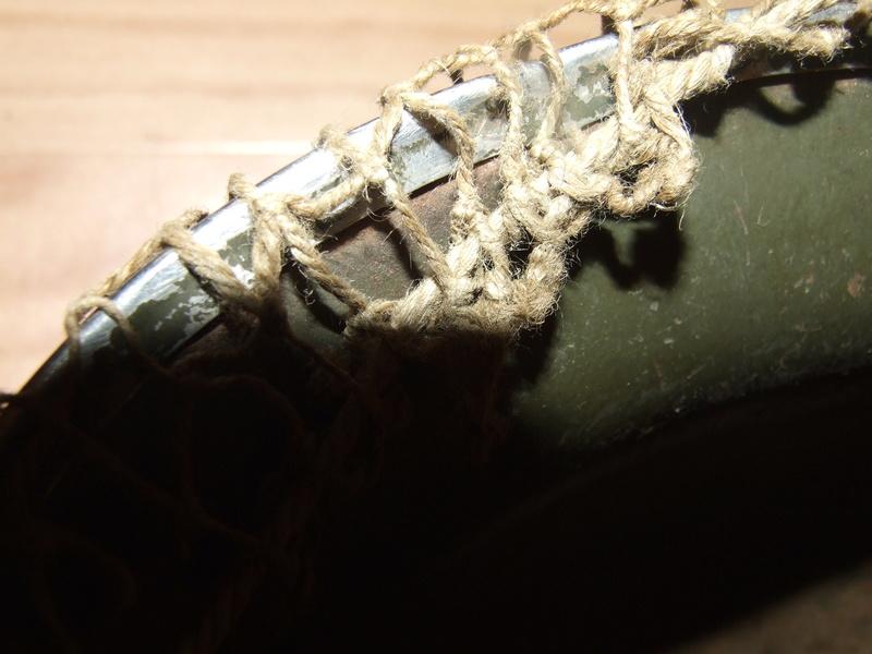 Filet sur casque US M1. Dscf7916