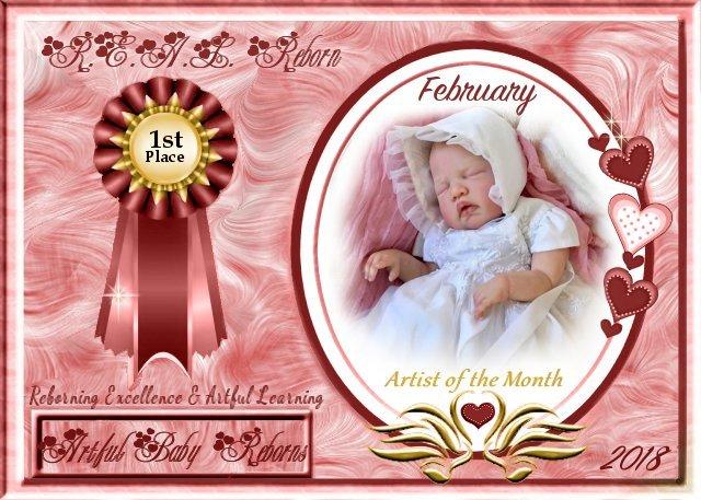 2018 AOTM February Contest Winner - Priscilla Anne (bornannew) of Artful Baby Reborns  Februa13