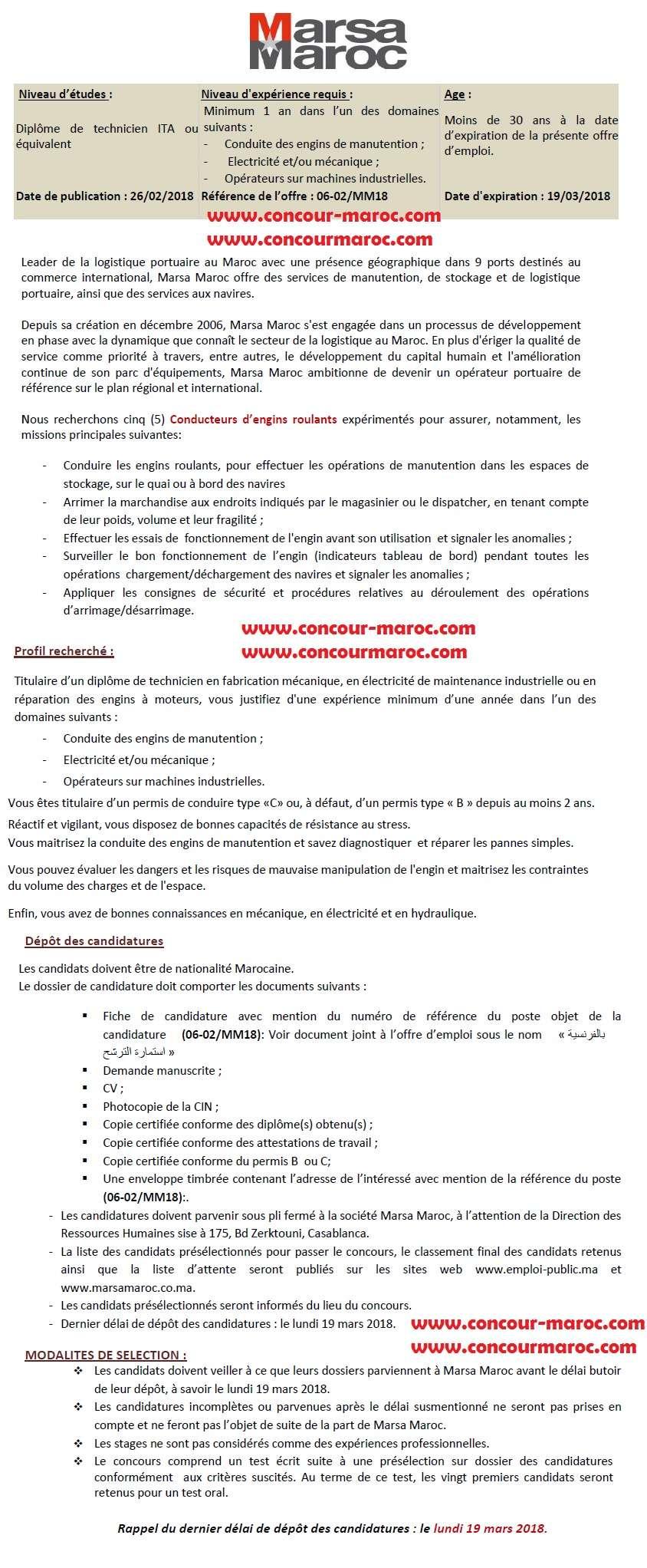 شركة استغلال الموانئ (مرسى ماروك) : مباراة لتوظيف 05 سائق اليات متحركة Conducteur engins roulants آخر أجل 19 مارس 2018 Marsa_10
