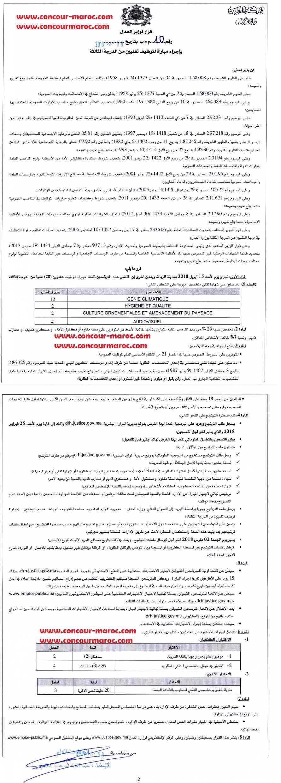 وزارة العدل : مباراة لتوظيف تقني من الدرجة الثالثة سلم 9 (20 منصب) آخر أجل 2 مارس 2018  Minist16