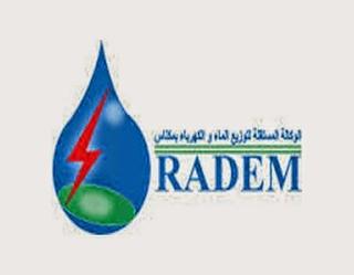 الوكالة المستقلة لتوزيع الماء والكهرباء بمكناس : مباراة لتوظيف أعوان تنفيذ (22 منصب) آخر أجل 31 ماي 2018  Radem_10