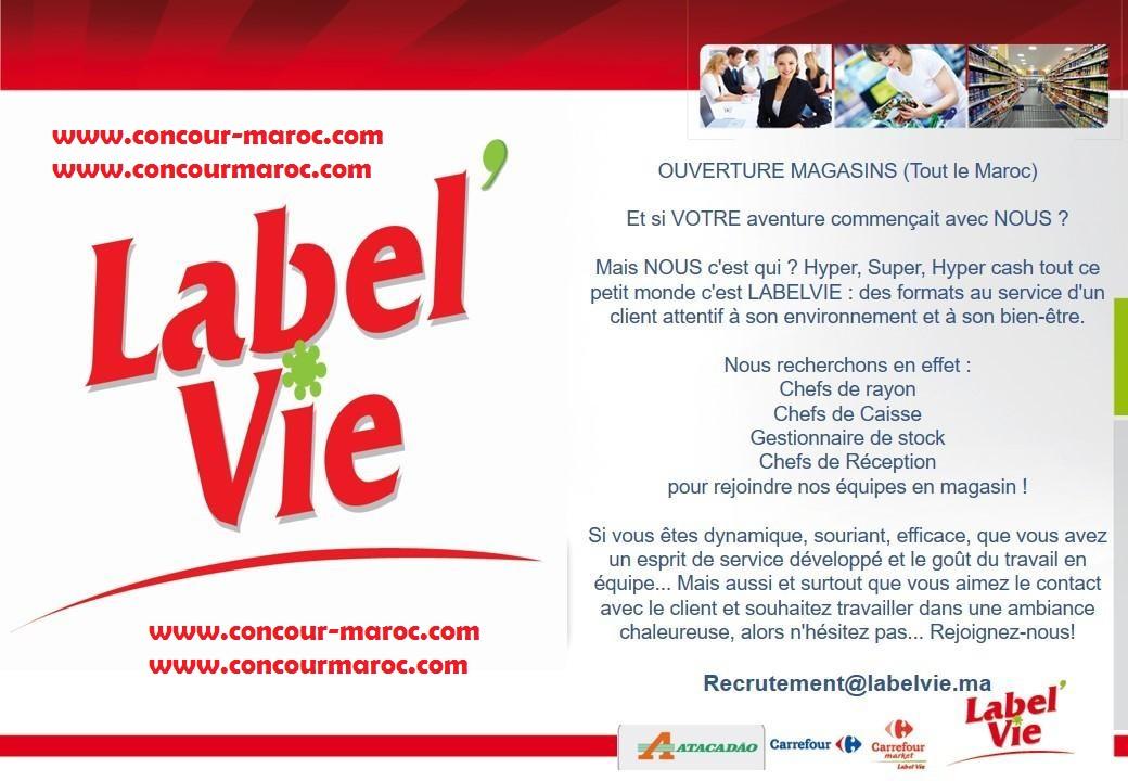 المركب التجاري الممتاز Label'vie : توظيف في عدة مناصب بعدة مدن بالمغرب Recrut25