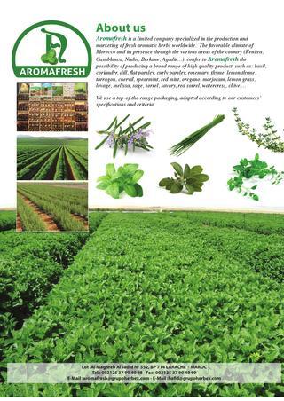 شركة زراعية دولية Aromafresh تبحث عن مهندسين و تقنيين زراعيين  Une_so10