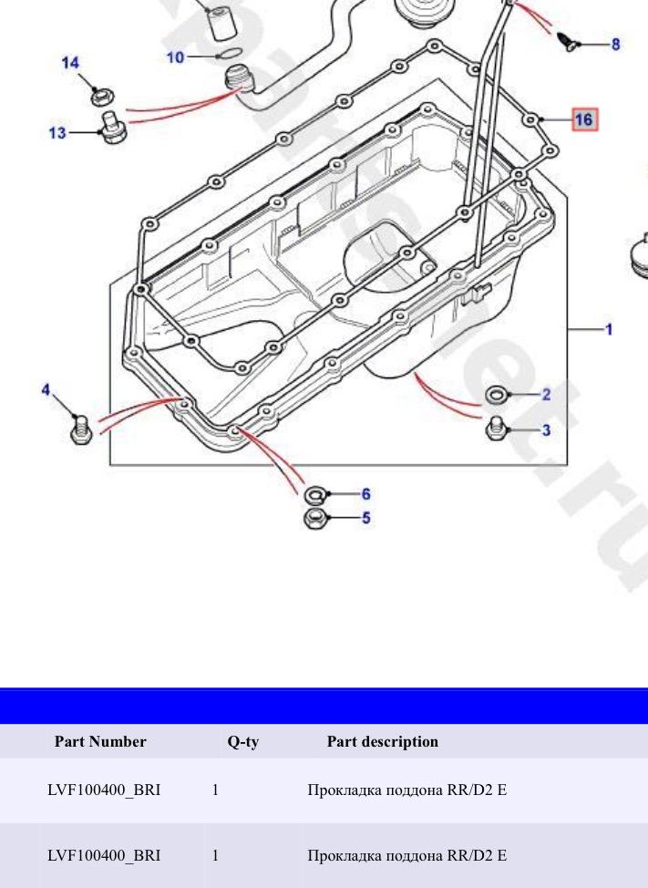 Ref du joint de carter d'huile V8 Thor 4.6 Image19