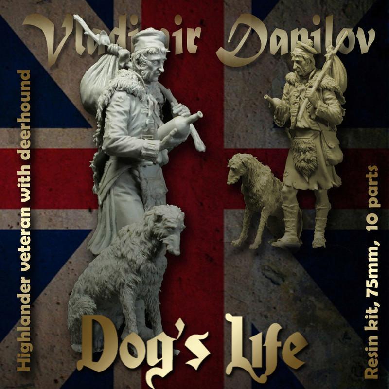 Officeir Britannique avec chien 18d10010