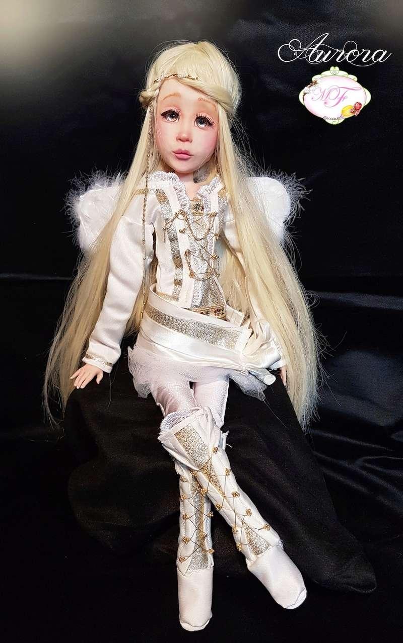 VENTE poupées d'artiste, BJD en polymère faits main -Flora  Aurora11