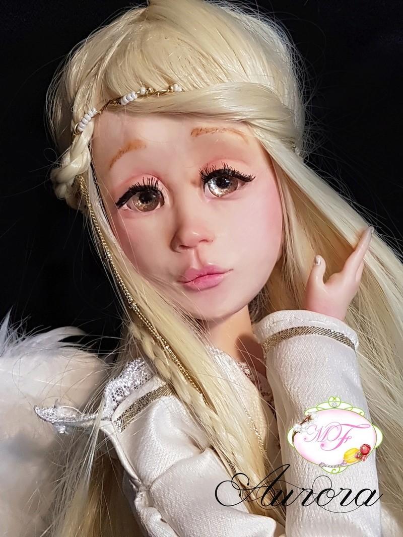 VENTE poupées d'artiste, BJD en polymère faits main -Flora  Aurora12