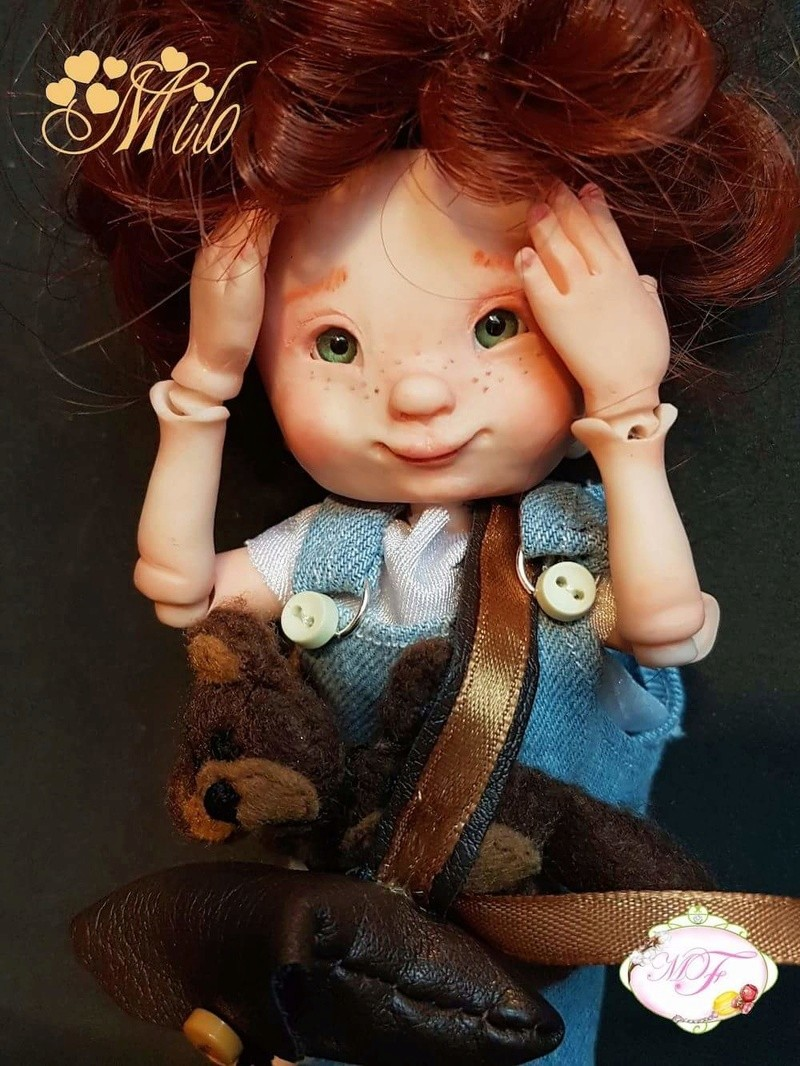 VENTE poupées d'artiste, BJD en polymère faits main -Flora  Fb_img24