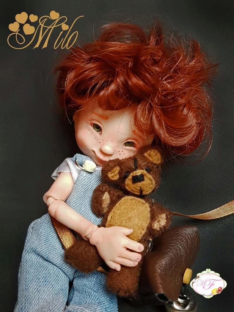 VENTE poupées d'artiste, BJD en polymère faits main -Flora  Fb_img26