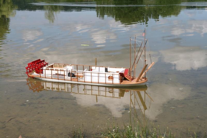 Construction d'un bateau à roue à aubes : le Mississippi 1870 Gazoul11
