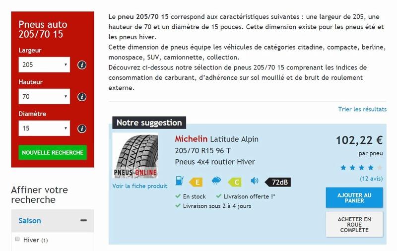 [V6 - 3.3 - 2004] - Les pneus - Avez vous essayé ceux la. Nokian SUV Line? Captu269