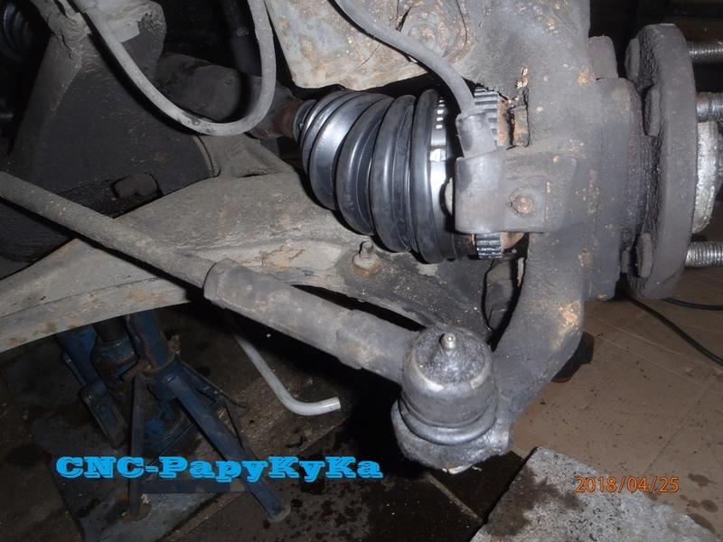 PapyKy, fait de entretient train AV de son S2 de 570.XXX Km. P4250018