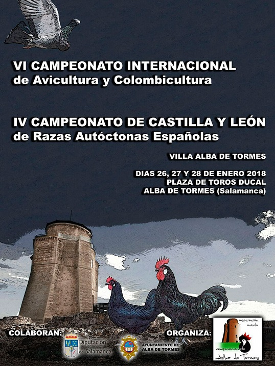 Exposición Avicola Alba de Tormes, 26, 27 y 28/01/2018 Cartel10