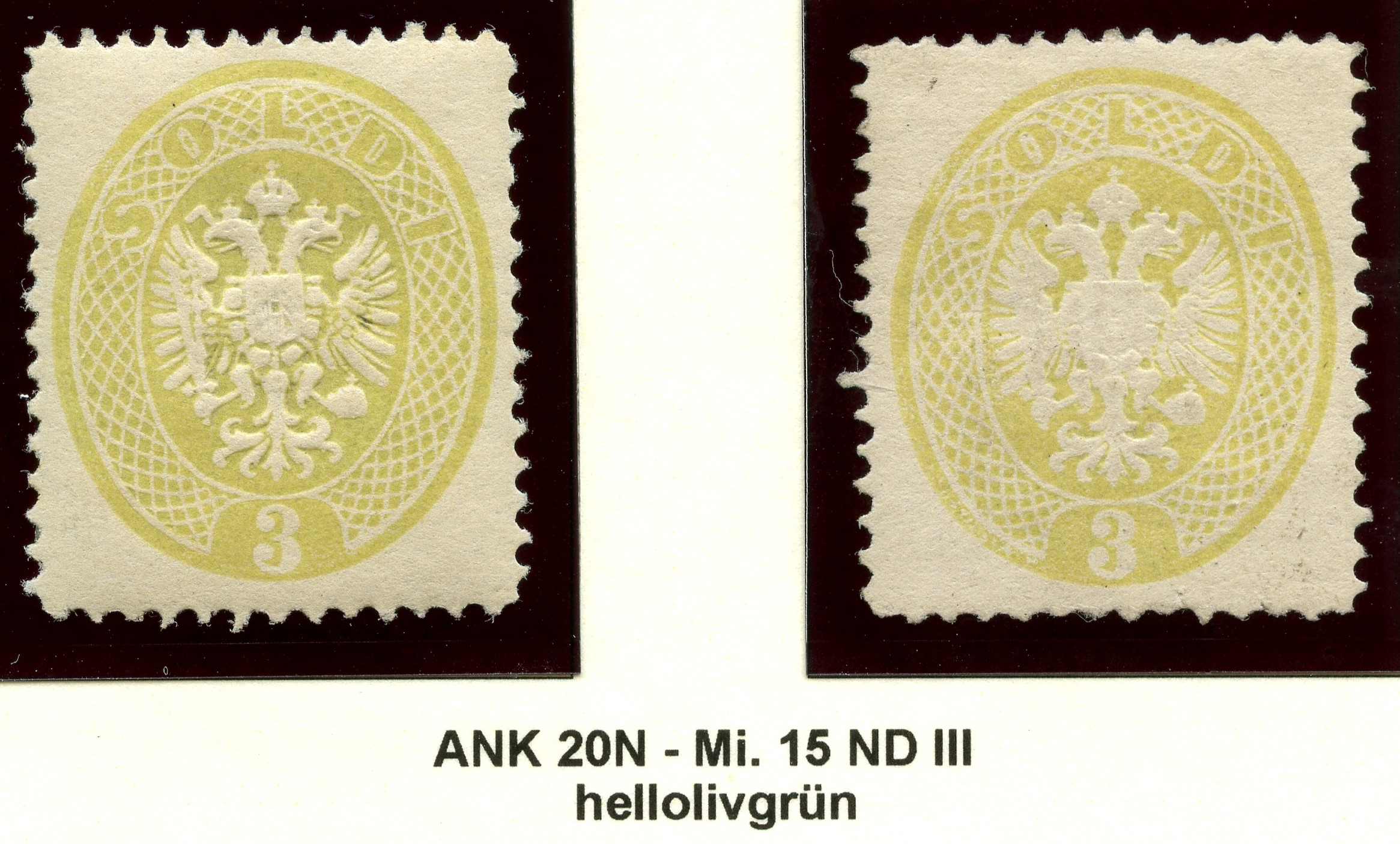 Lombardei-Venetien, Ausgaben 1863 und 1864 1884_l11