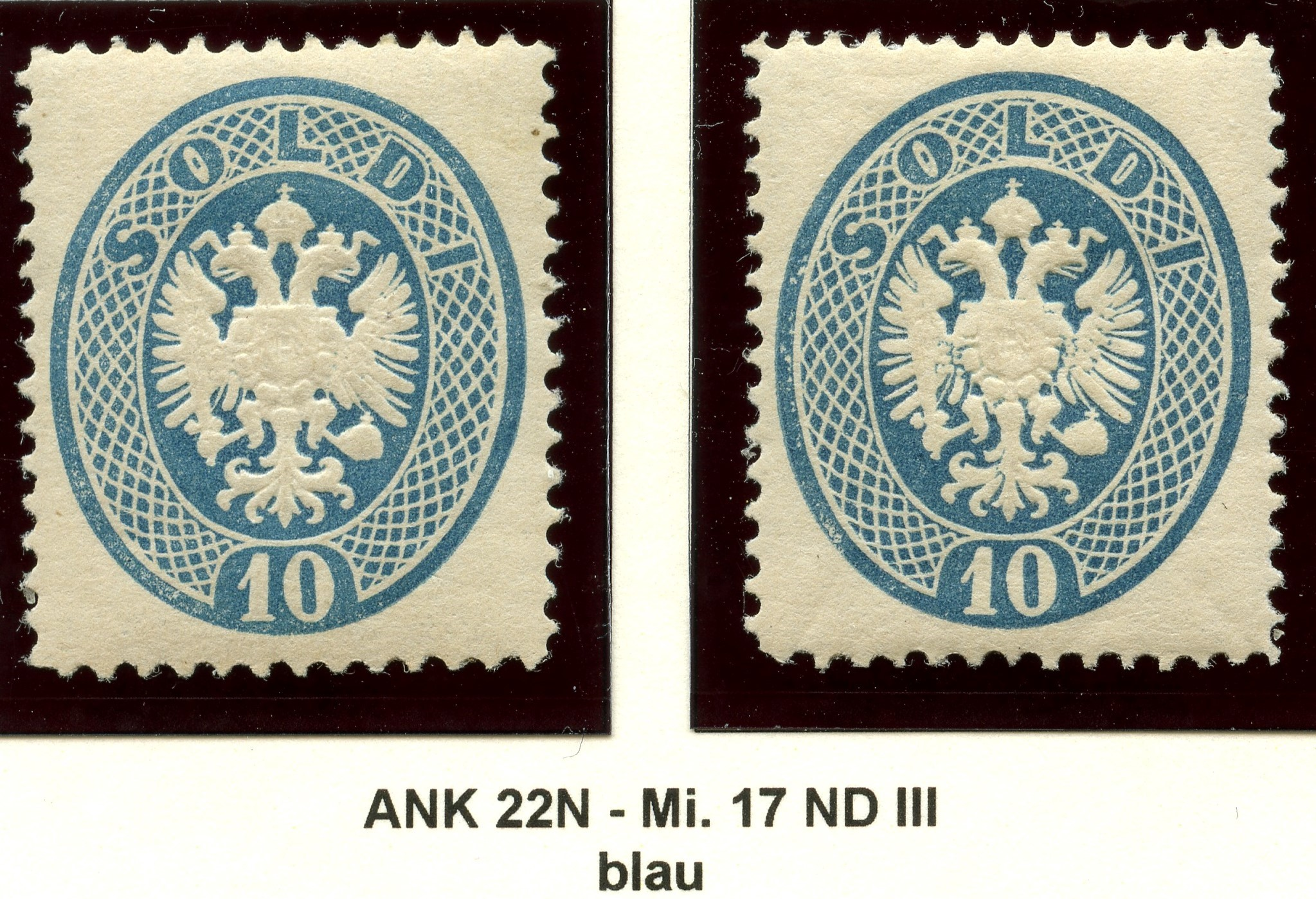 Lombardei-Venetien, Ausgaben 1863 und 1864 1884_l12