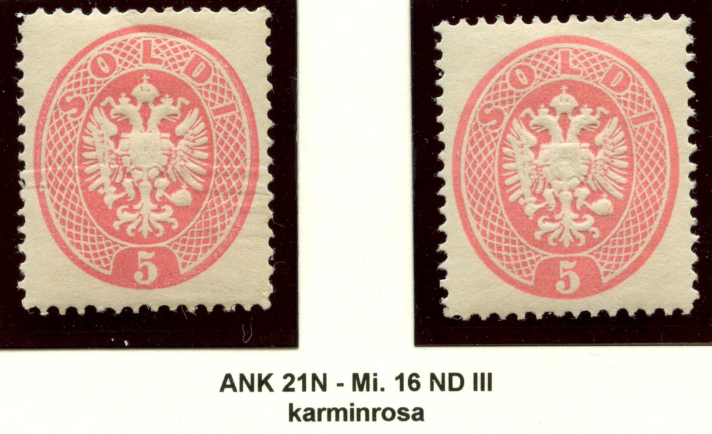 Lombardei-Venetien, Ausgaben 1863 und 1864 1884_l13