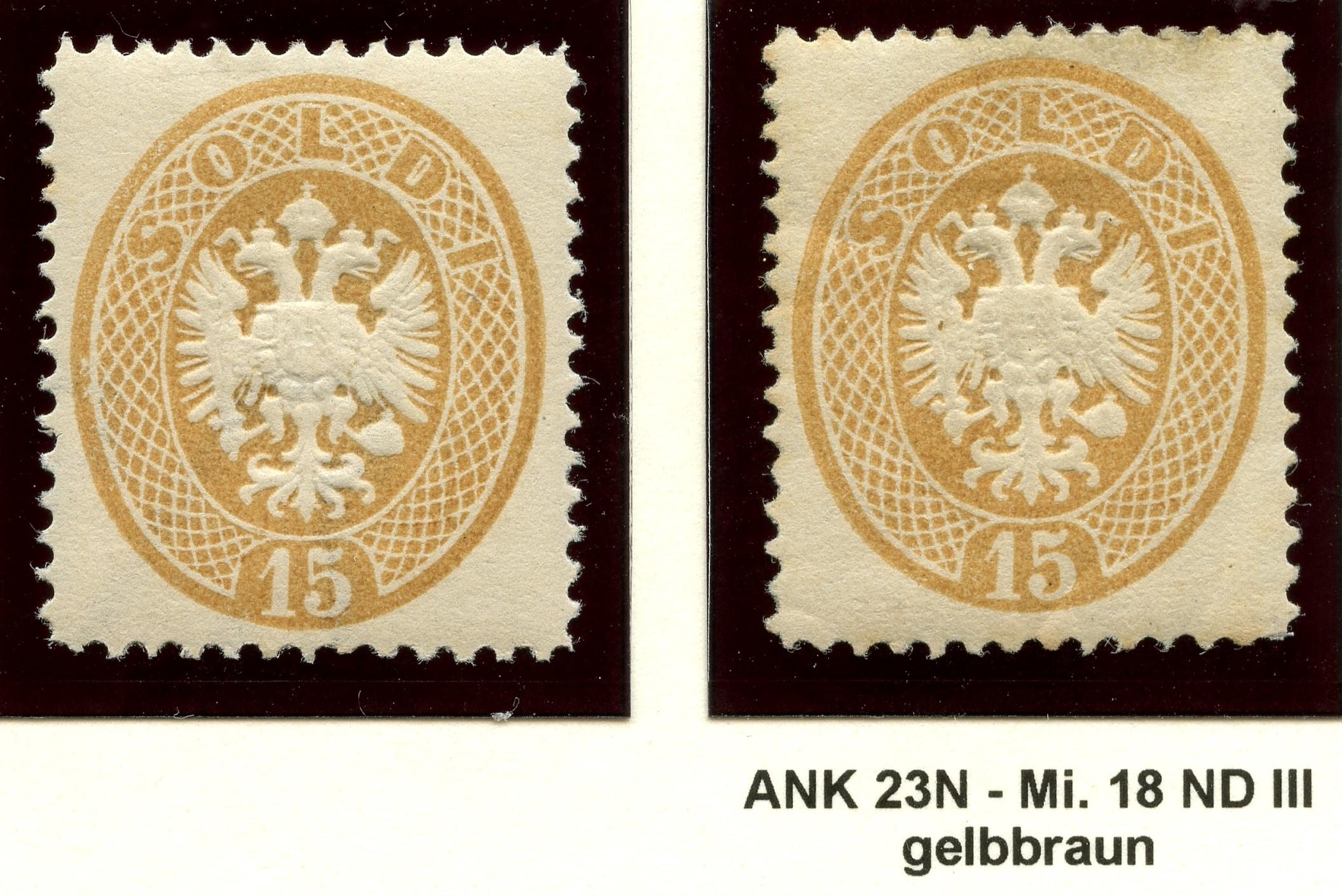 Lombardei-Venetien, Ausgaben 1863 und 1864 1884_l14