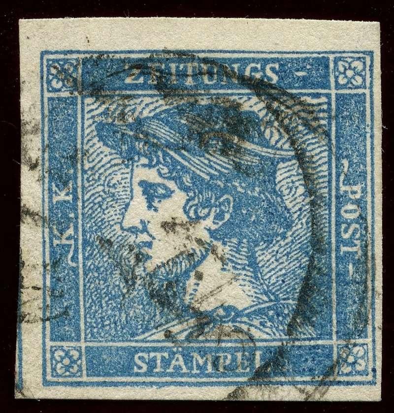 DIE ZEITUNGSMARKEN AUSGABE 1851 Iiia_g11