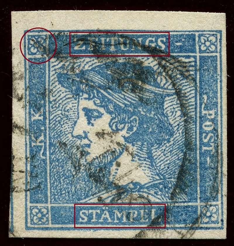 DIE ZEITUNGSMARKEN AUSGABE 1851 Iiia_g12