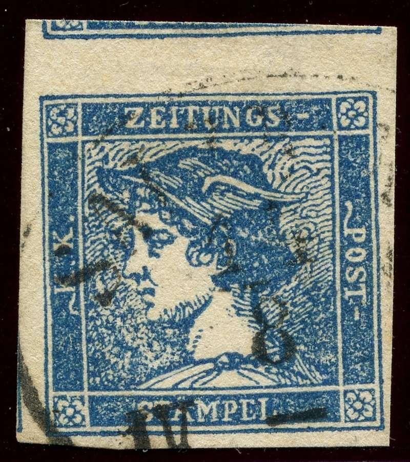 DIE ZEITUNGSMARKEN AUSGABE 1851 Iiib_g12