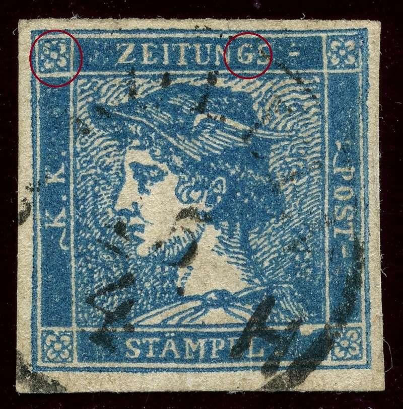 DIE ZEITUNGSMARKEN AUSGABE 1851 Iiib_g14