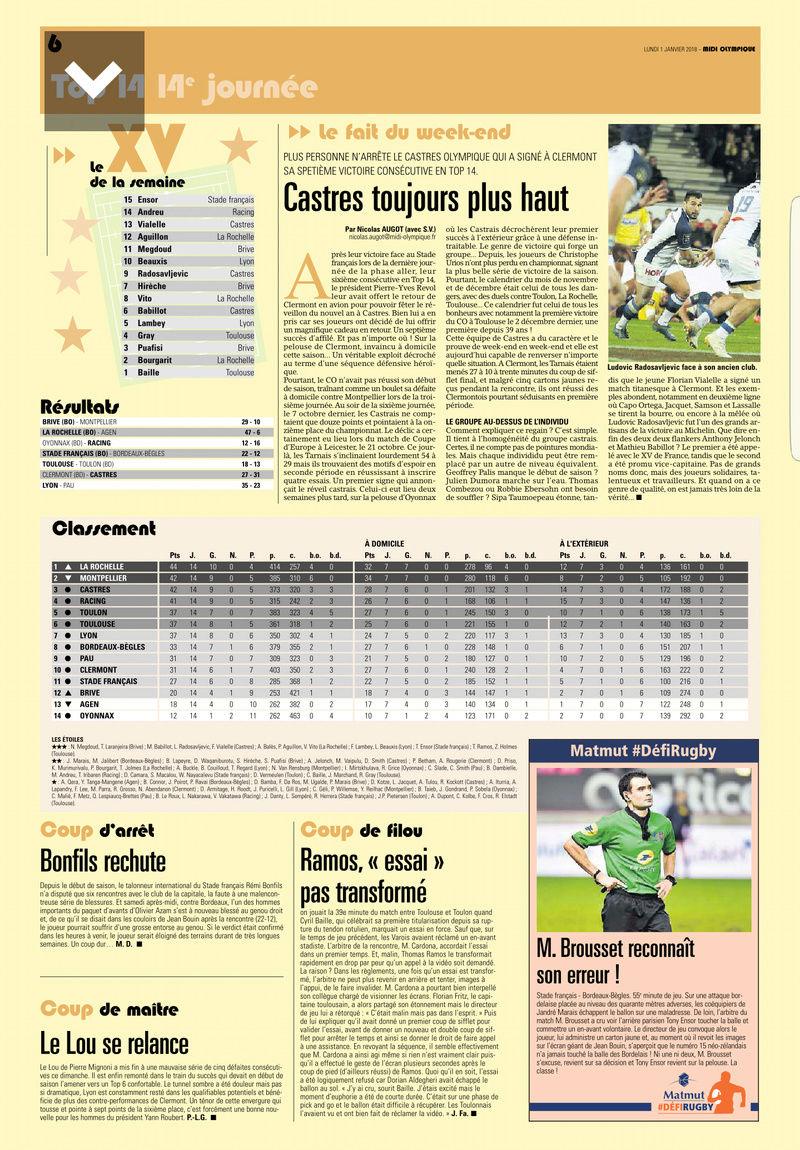 Top14 - 14ème journée : Stade Français - UBB - Page 7 Midol_12