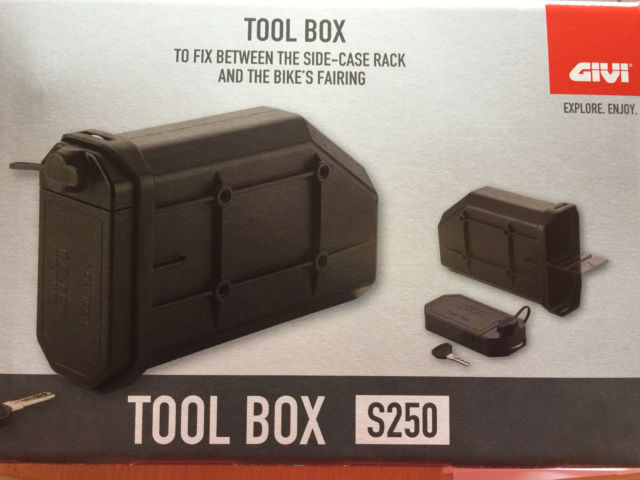 Toolbox GIVI avec fixation sur support valise GIVI Tool_b10