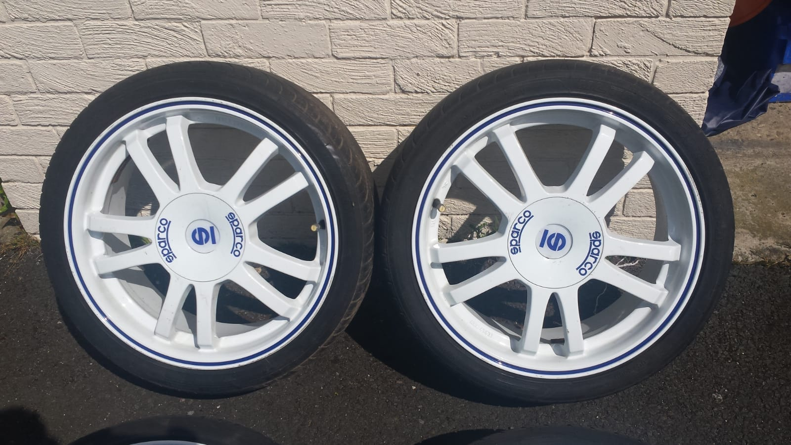 "17"" white sparco alloys with tyres £360 528a1710"