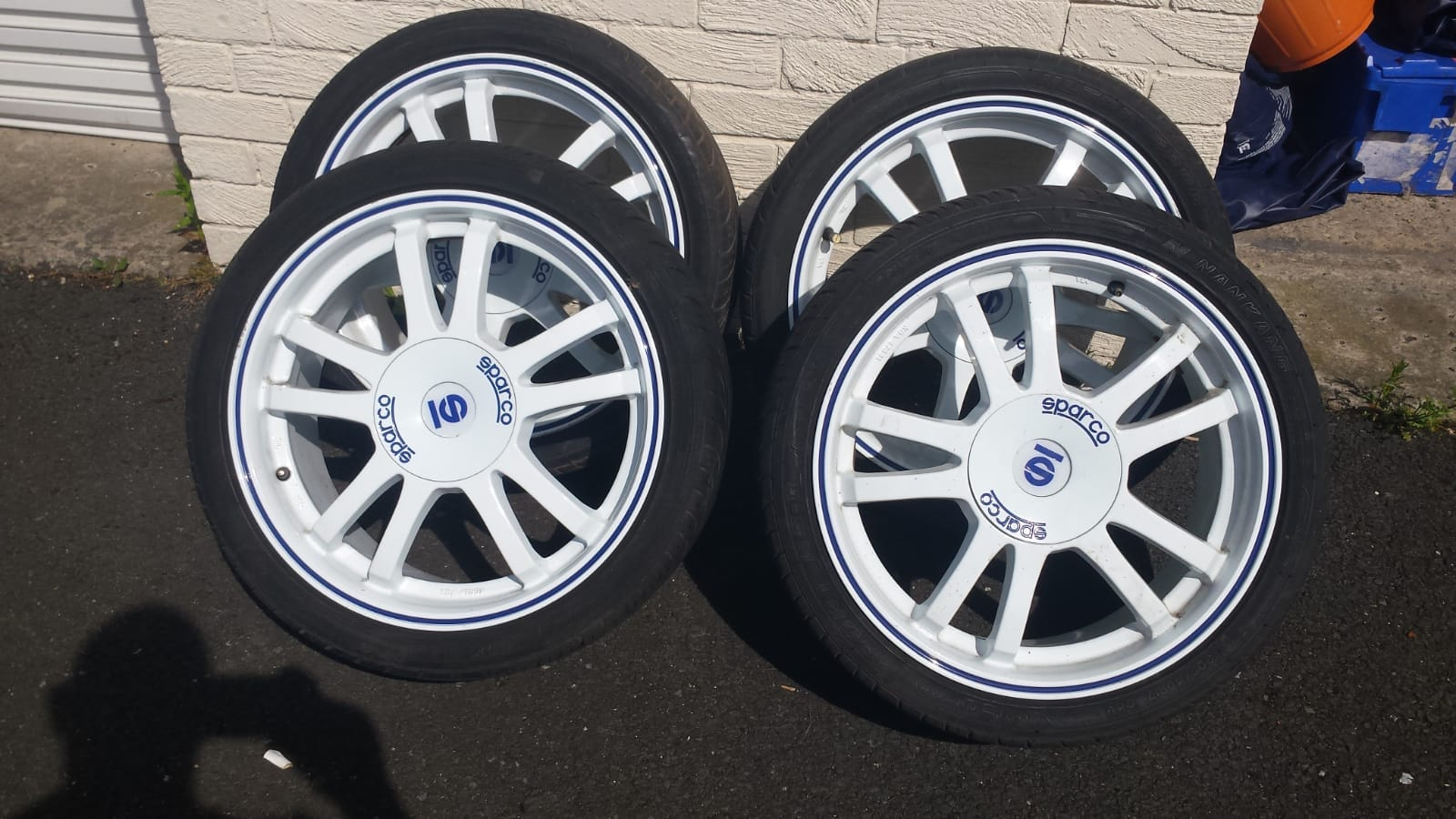 "17"" white sparco alloys with tyres £360 A15ec110"