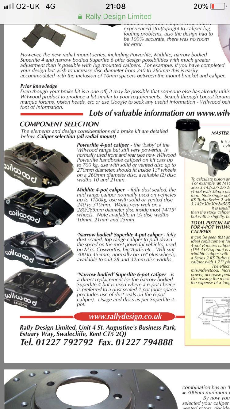 Akebono EVO brakes VS Wildwood Kits Fcacc010