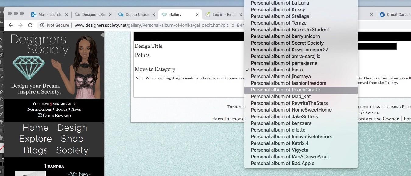 Delete Unused Personal Galleries Exampl10