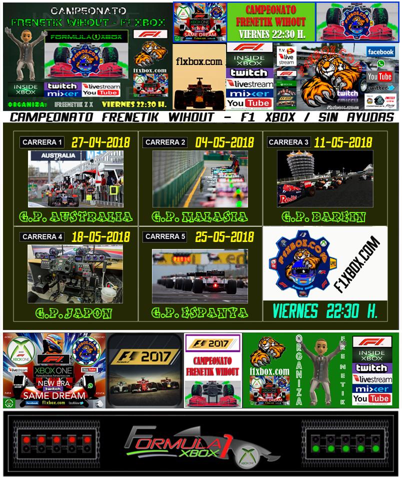 ¡ CAMPEÓN ! / F1 2017 / CAMPEONATO FRENETIK WIHOUT - F1 XBOX / CAMPEÓN, PODIUM, CALENDARIO Y CLASIFICACIÓN FINAL.  29356420