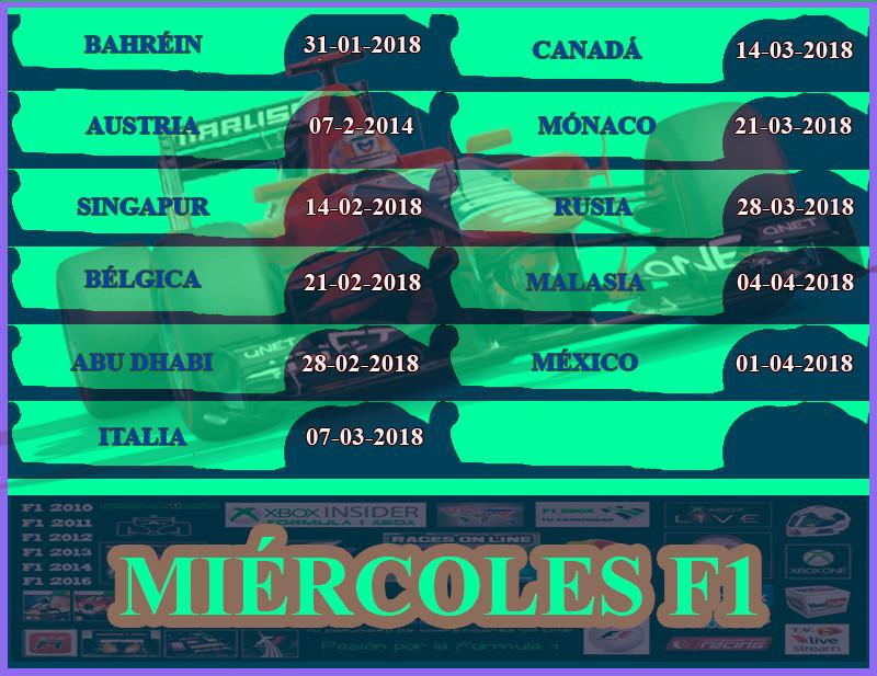 ¡ CAMPEÓN ! / F1 2017 / CAMPEONATO MIÉRCOLES - F1 XBOX / CAMPEÓN, PODIUM Y CLASIFICACIÓN FINAL.  Calend17