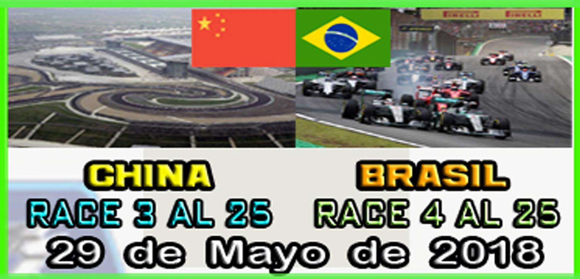 F1 2017 - XBOX ONE / CAMPEONATO OPEN LITOS - F1 XBOX / CONFIRMACIÓN DE ASISTENCIA G.P. DE CHINA Y  BRASILI /  MARTES  29-05-2018 A LAS 22:30 H. Calend30