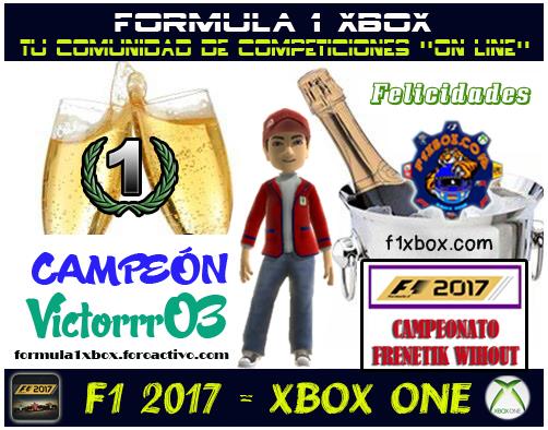 ¡ CAMPEÓN ! / F1 2017 / CAMPEONATO FRENETIK WIHOUT - F1 XBOX / CAMPEÓN, PODIUM, CALENDARIO Y CLASIFICACIÓN FINAL.  F1-pod11