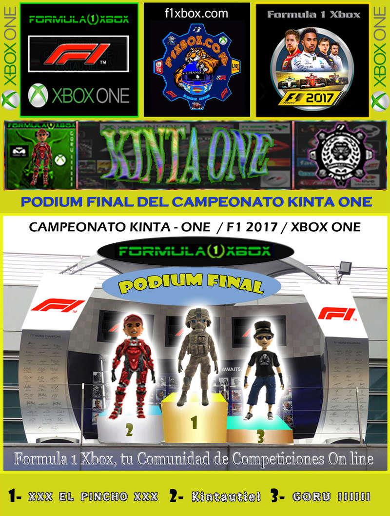 ¡ CAMPEÓN ! / F1 2017 / CAMPEONATO KINTA ONE - F1 XBOX / CAMPEÓN, PODIUM Y CLASIFICACIÓN FINAL.  Podium23