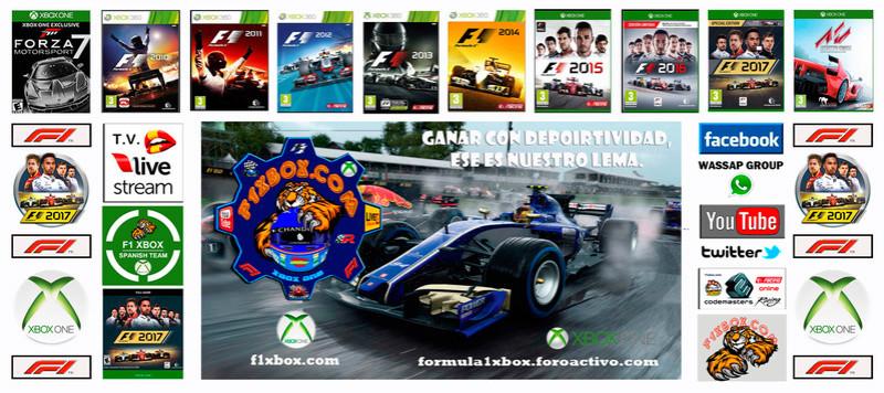 F1 2017 - XBOX ONE / CAMPEONATO LITOS OPEN - F1 XBOX / RESULTADOS Y PODIUM / G.P. DE AUSTRIA + GP DE BÉLGICA / LUNES 16 - 07 - 2018. Portad23