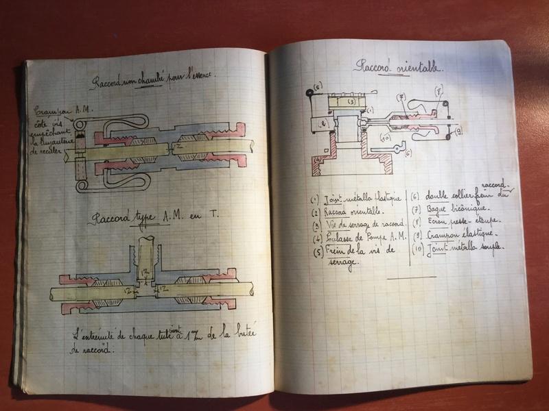 Lot de cahiers de notes - Armée de l'Air 227c0710
