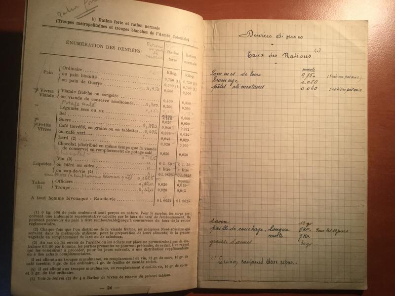 Aide mémoire pour officier d'approvisionnement - Edition 1939 537d4110