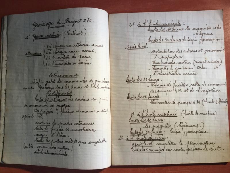 Lot de cahiers de notes - Armée de l'Air E30ab710