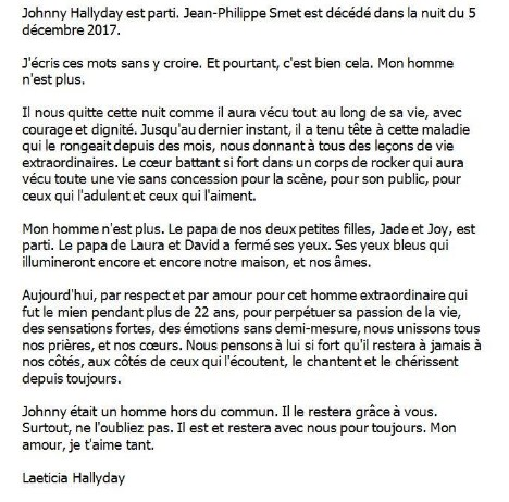 Hommage à Johnny Hallyday (1943-2017) Lettre10