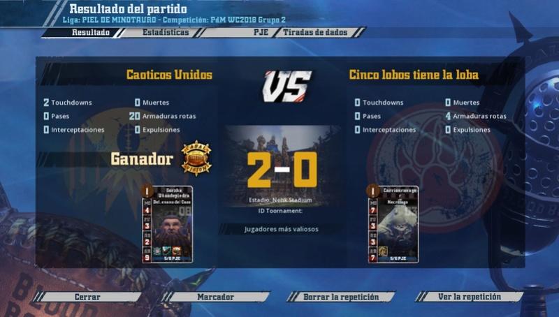 WC2018 - Grupo 2 / Jornada 1 - hasta el domingo 15 de abril 2010