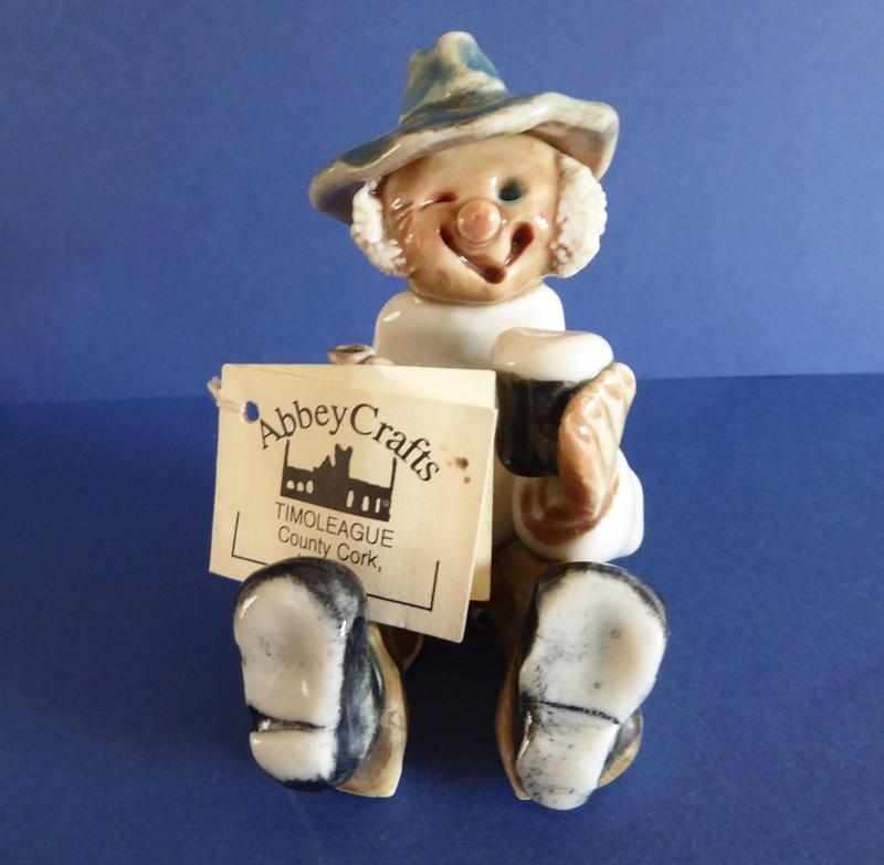 Art Pottery Figure on Bench Marked K T? Irish_10