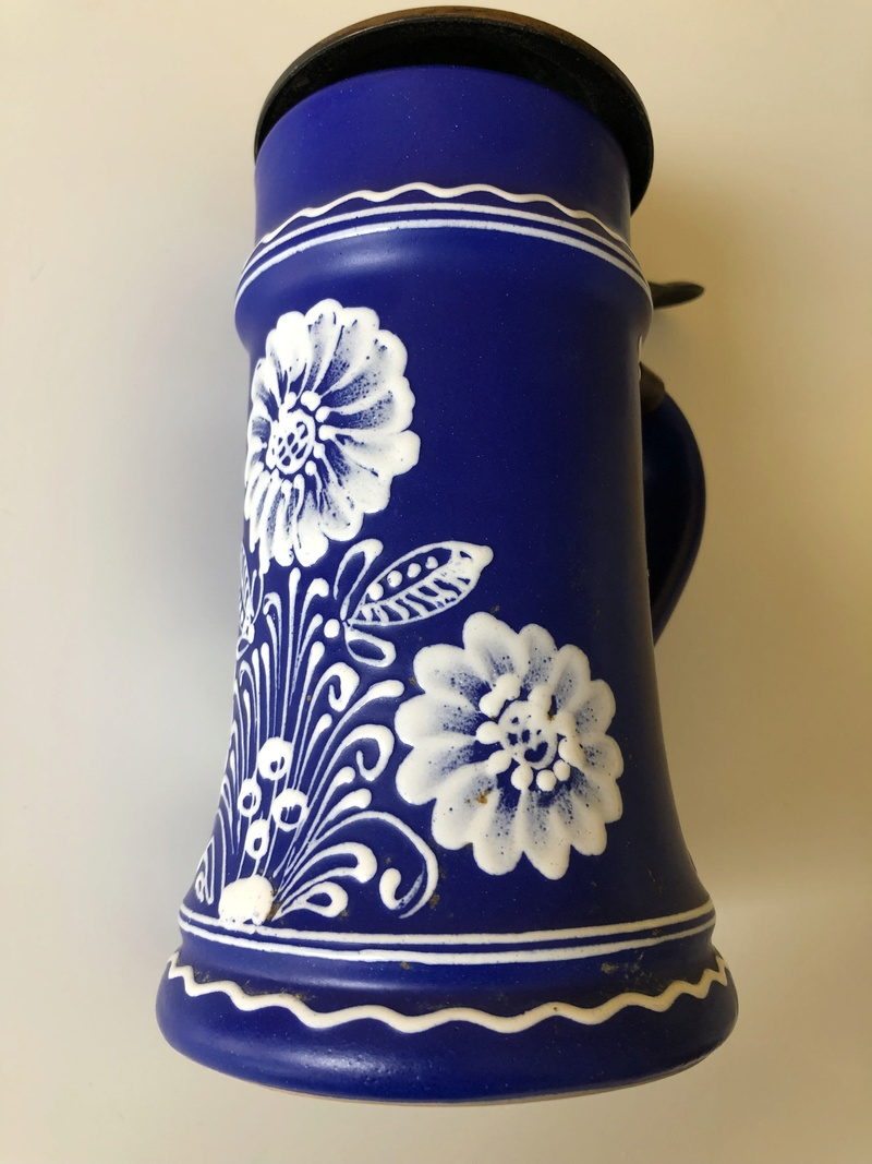 Inverted Delft style Pottery Stein Signed PL or DL - Any Ideas? Img_5610