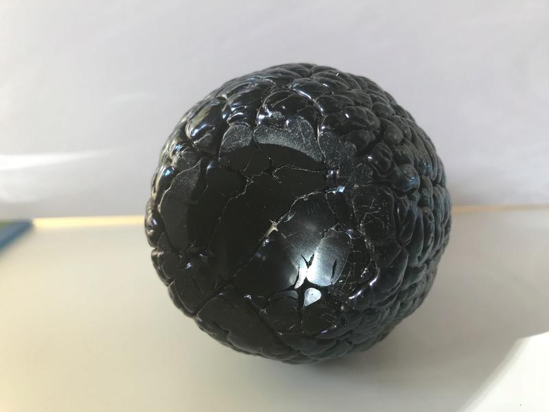 Arts Crafts Slag Glass vase - polished pontil - could it be attributed? Img_8113